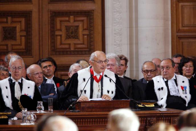 Didier Migaud, premier président de la Cour des comptes, le 7 septembre 2012.