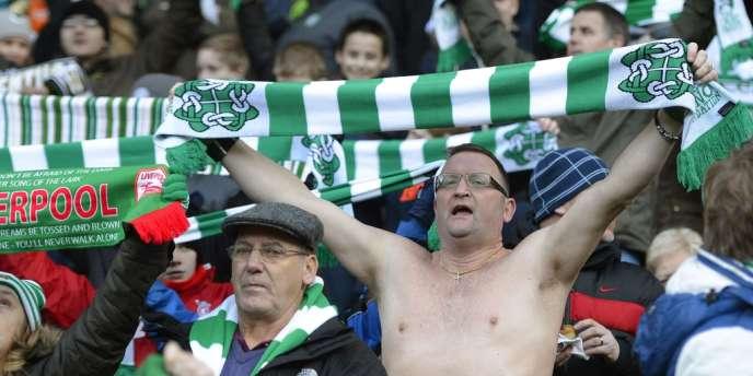 Des supporters du Celtic Glasgow, le 19 janvier à Celtic Park.