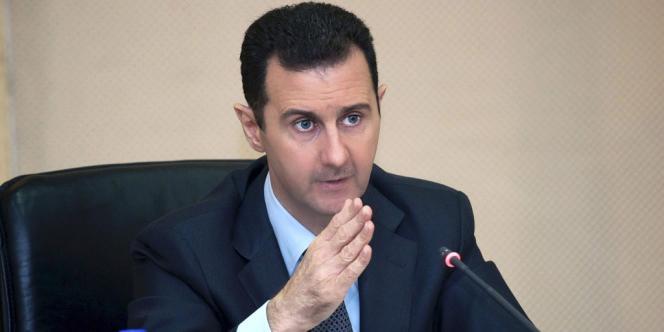 Bachar Al-Assad lors d'une réunion ministérielle à Damas, le 12 février.