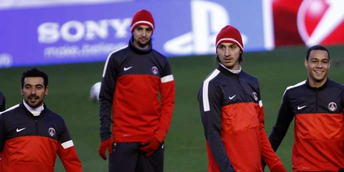 Les joueurs parisiens à l'entrainement, le 11 février à Valence.