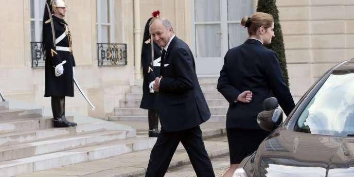Laurent Fabius, le 11 février à l'Elysée.