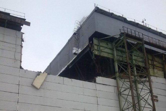 Une vue du bâtiment qui s'est partiellement effondré, publiée sur le site de l'autorité ukrainienne de régulation nucléaire (SNRC).