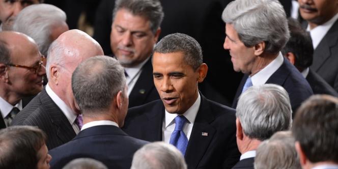 Barack Obama, le 12 février au soir, lors du discours sur l'état de l'Union.