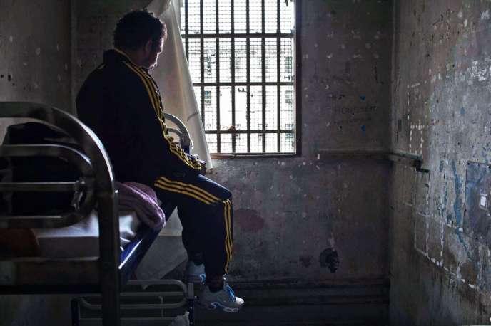 Prison des Baumettes, Marseille, en 2012. La cellule de confinement de la maison d'arrêt des hommes.