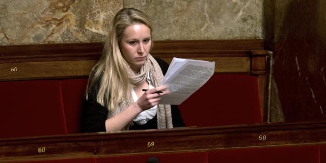 Marion Maréchal-Le Pen, a l'Assemblé nationale le 6 février.