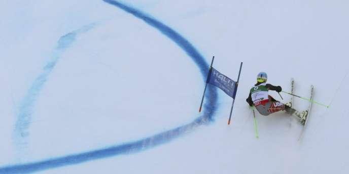 Ted Ligety en action lors du slalom géant, le 15 février à Schladming.