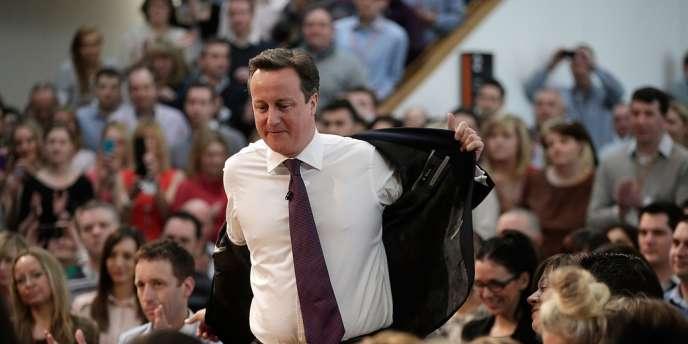 David Cameron, le 14 février à Eastleigh, dans le sud du Royaume-Uni.