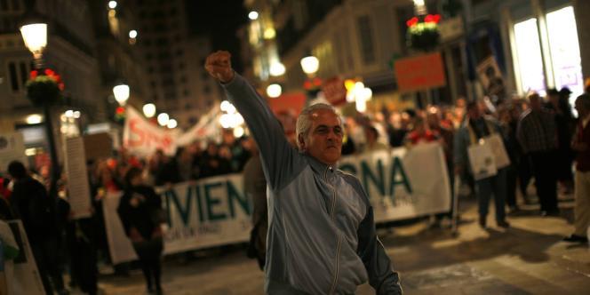 Manifestation dans les rues de Malaga, le 16 février 2013, contre les expulsions immobilières.