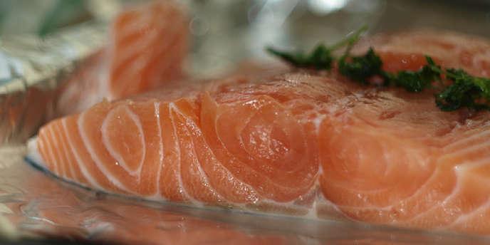 Tranche de saumon.