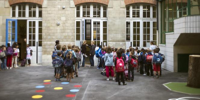 Une école parisienne en septembre 2012.