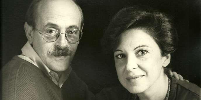 Antonio Tabucchi et sa femme en 1990.