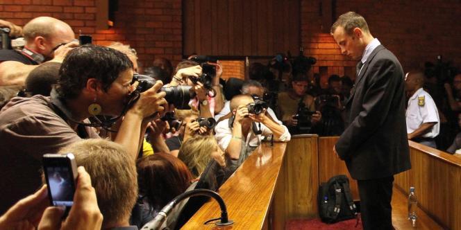 Oscar Pistorius, au tribunal de Pretoria, vendredi 22 février.
