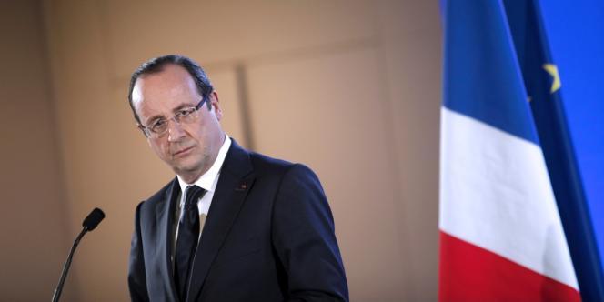 François Hollande tient une conférence de presse en marge du Salon de l'agriculture, samedi 23 février.