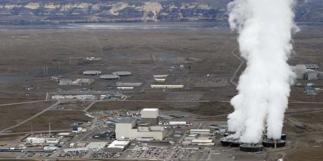Vue aérienne du site de Hanford, prise le 21 mars 2011.