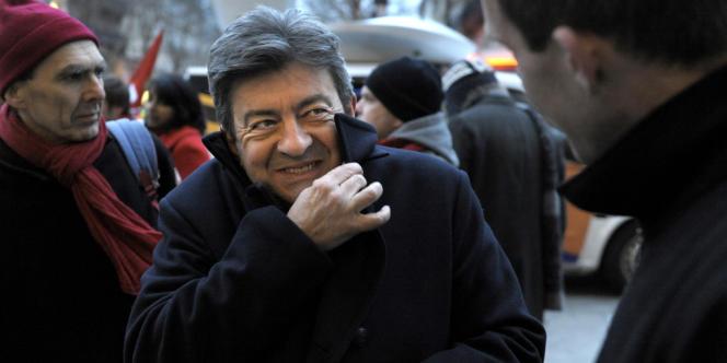 Jean-Luc Mélenchon a assisté au débat sur la proposition de loi d'amnistie sociale depuis le banc des visiteurs du Sénat, mercredi 27 février.