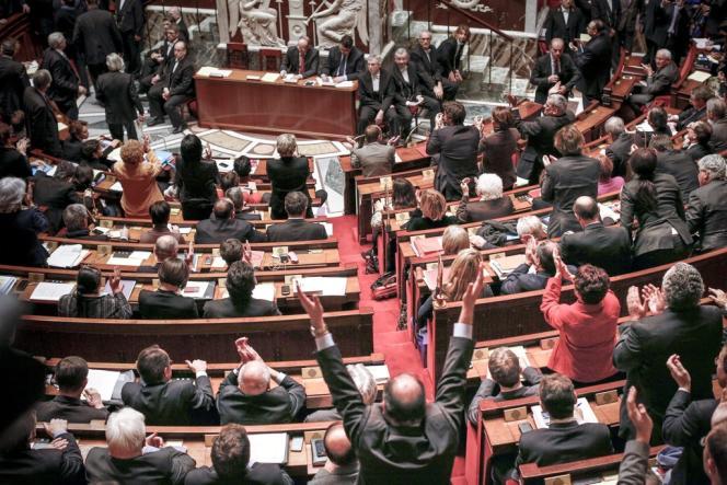 Dans l'hémicycle de l'Assemblée nationale. Ici le 12 février lors de l'adoption du projet de loi sur le