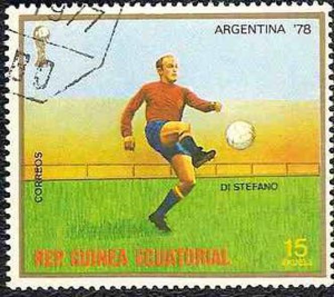 Di Stefano sur un timbre de Guinée-Equatoriale.