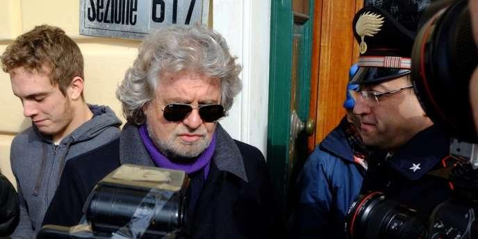 Beppe Grillo, le 25 février à Gênes.