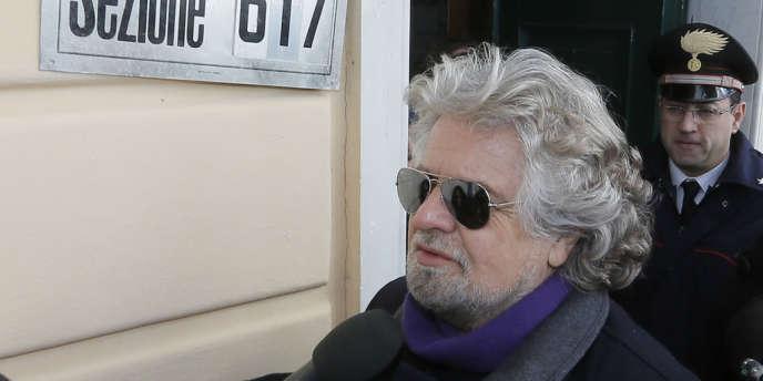Beppe Grillo, 25 février 2013.