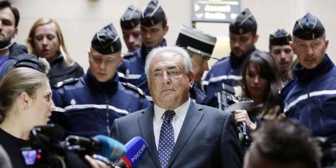 Dominique Strauss-Kahn était présent lors de l'audience au Palais de justice de Paris, mardi 26 février.