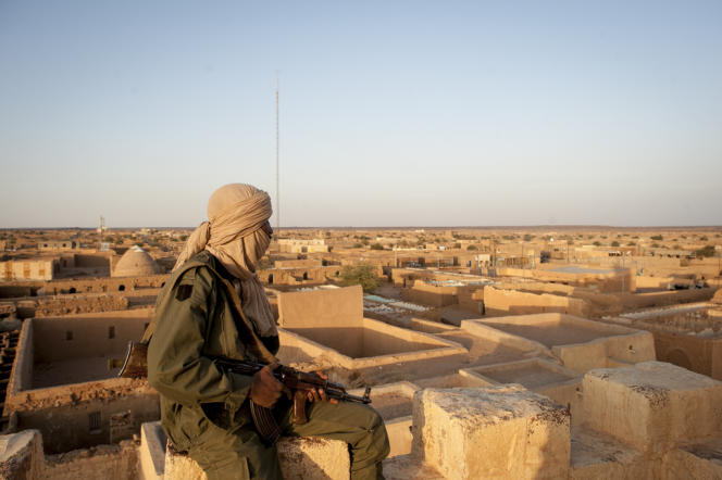 Un soldat du MNLA, le 26 février à Kidal, au sud de l'Adrar.