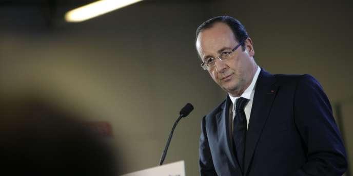 François Hollande donne une conférence de presse au Salon de l'agriculture, samedi 23 février à Paris.