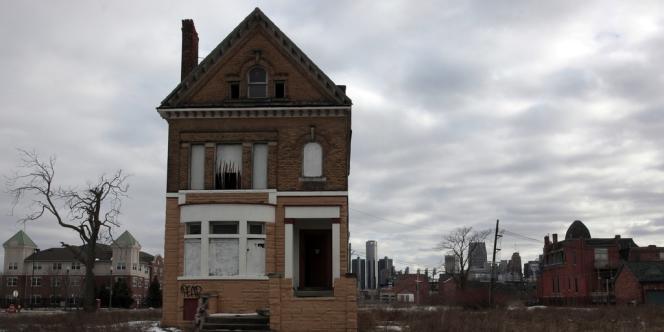 Maison abandonnée dans le quartier de Brush Park, à Detroit, le 3 mars.
