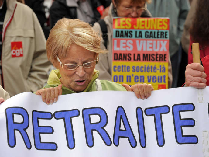Manifestation de retraités, à Lille, le 06 octobre 2011.