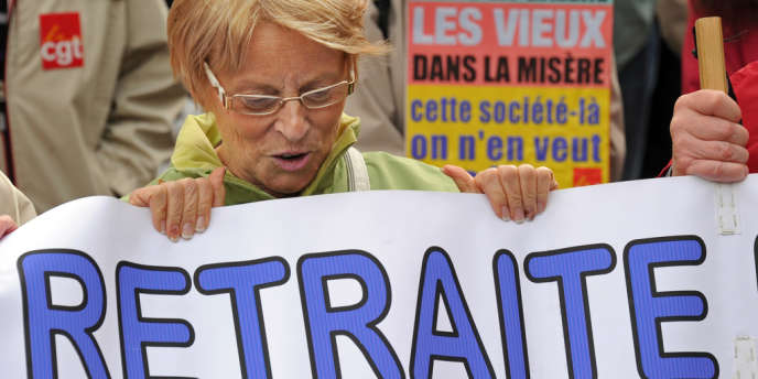 Manifestation contre la réforme des retraites, à Lille, en 2011.