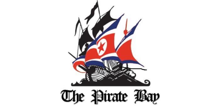 Le logo du site The Pirate Bay, aux couleurs de la Corée du Nord.
