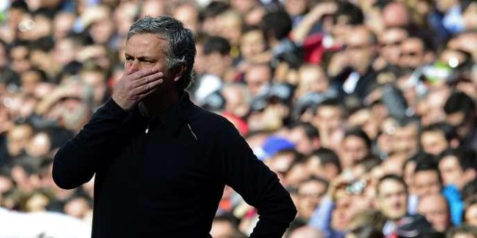 José Mourinho, le 2 mars à Santiago Bernabeu.