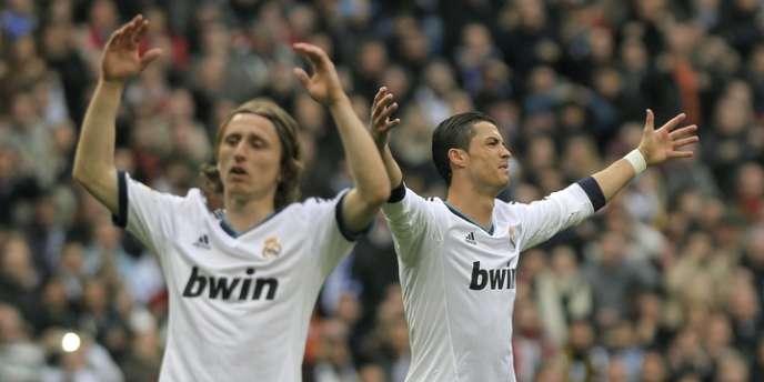 Luka Modric et Cristiano Ronaldo, le 2 mars à Madrid.