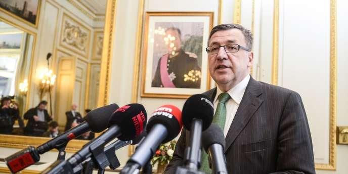 Steven Vanackere, le 5 mars à Bruxelles.