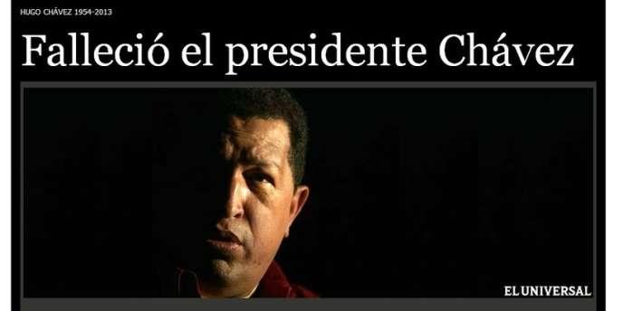 La une du site vénézuélien