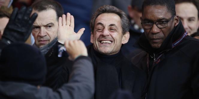 Nicolas Sarkozy, le 24 février 2013, au Parc des Princes.
