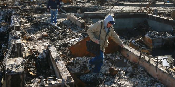Dans le quartier new-yorkais de Breezy Point, le 14 novembre après le passage de Sandy.