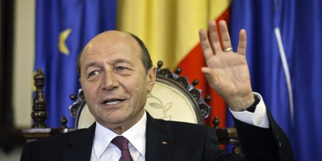 Le président roumain Traian Basescu, le 7 mars à Bucarest.