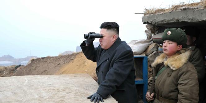 Kim Jong-un sur l'île Jangjae, le 7 mars 2013.