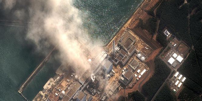Image satellite prise durant la fuite qui a affecté la centrale de Fukushima, prise le 14 mars 2011, deux jours après le tremblement de terre.