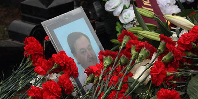 La tombe du juriste Sergueï Magnitski à Moscou, en novembre 2009.