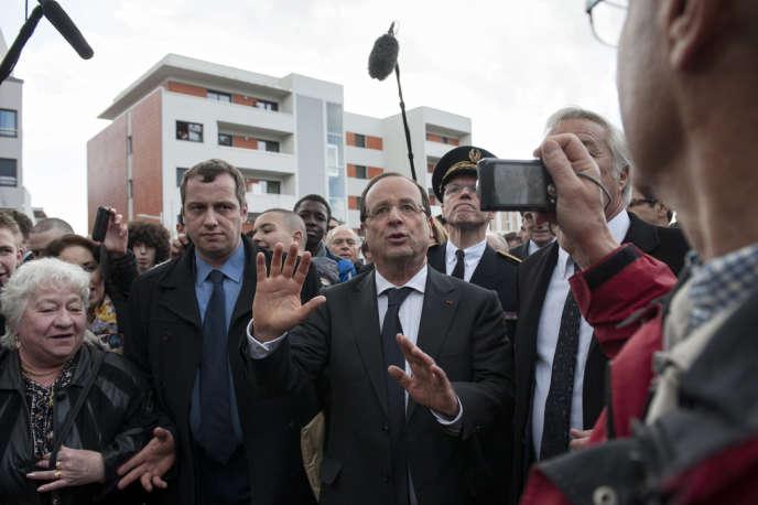 Visite de François Hollande à Dijon le 11 mars 2013.