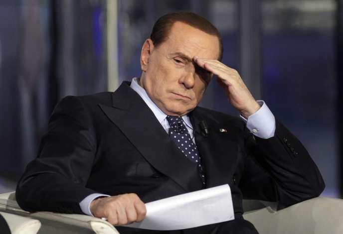 Silvio Berlusconi, le 7 mars 2013, sur un plateau de télévision.