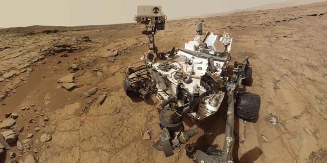 Le robot Curiosity, le 3 février 2013.