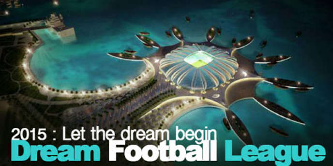 Une image de promotion de la fausse Dream Football League, imaginée par Les Cahiers du football.