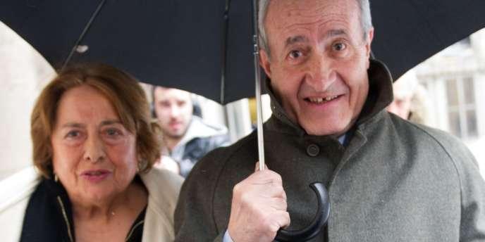 Les époux Tiberi, le mardi 12 mars, à leur sortie de la Cour d'appel de Paris.