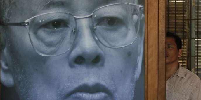 Un portrait de Ieng Sary, exposé au musée de Tuol Sleng, ex-centre d'interrogatoire des Khmers rouges, à Phnom Penh, le 14 mars.