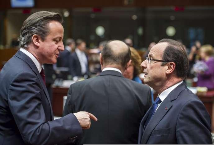 David Cameron et François Hollande, le 15 mars à Bruxelles.