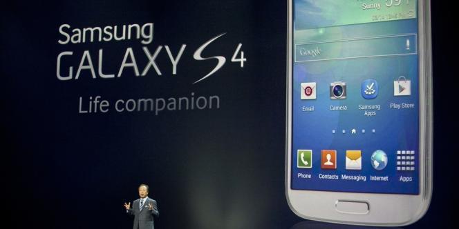 Présentation du Samsung 4S en mars 2013.