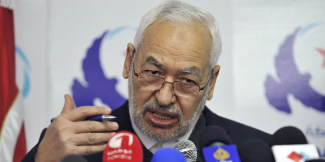 Rached Ghannouchi, dirigeant d'Ennahda, a été mis en cause par les manifestants.