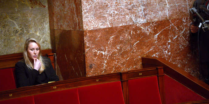 La députée FN du Vaucluse Marion Maréchal-Le Pen à l'Assemblée, le 28 novembre 2012.